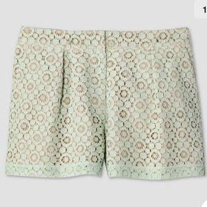 Victoria Beckham Women Jacquard Shorts Green